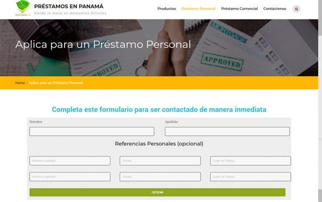 Formulario de préstamos